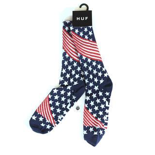 ハフ(HUF)の◆HUF USA ソックス / 靴下 星条旗柄 ハフ ロングソックス(ソックス)