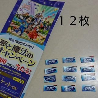 ディズニー(Disney)の東京ディズニーリゾート  ブルガリアヨーグルト  応募券 12枚(その他)