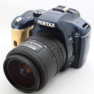 希少カラー★Pentax K-x レンズ付き★ネイビー×ベージュ(デジタル一眼)