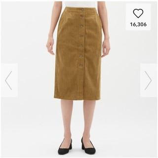 ジーユー(GU)のGU コーデュロイフロントボタンタイトスカート(その他)