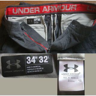 アンダーアーマー(UNDER ARMOUR)のunder armour パンツ ストレッチ 紺 w34(ワークパンツ/カーゴパンツ)