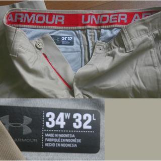 アンダーアーマー(UNDER ARMOUR)のunder armour パンツ ストレッチ カーキ w34(ワークパンツ/カーゴパンツ)