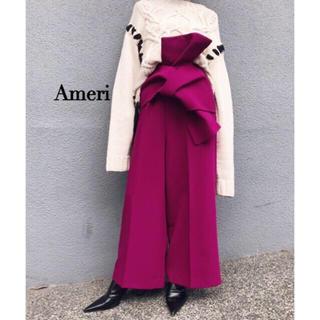 アメリヴィンテージ(Ameri VINTAGE)のameri  vintage  OBI WIDE PANTS(カジュアルパンツ)