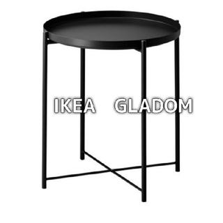 イケア(IKEA)の◉新品未開封◉ IKEA イケア トレイテーブル // ブラック GLADOM(コーヒーテーブル/サイドテーブル)