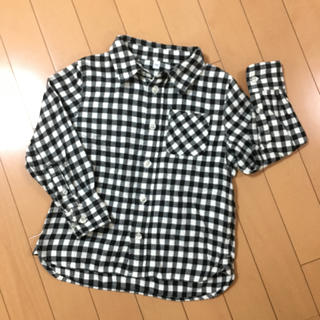 MUJI (無印良品) - 無印良品 ネルシャツ 110