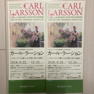 カール・ラーション展  チケット(美術館/博物館)