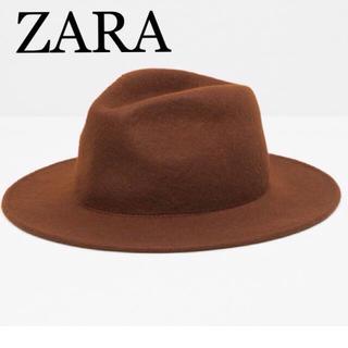 ザラ(ZARA)のZARA ハット フェルトハット つば広ハット ザラ  (ハット)