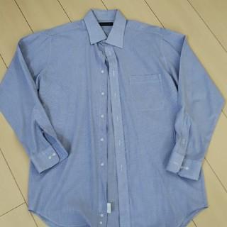 ★Yシャツ★L★長袖★ブルーチェック★中古品★(シャツ)