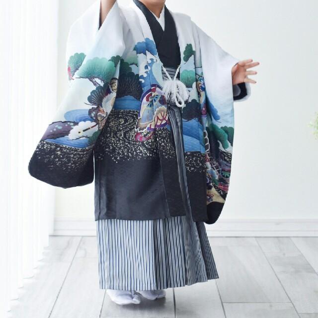 七五三 5歳 男の子 羽織袴セット キッズ/ベビー/マタニティのキッズ服 男の子用(90cm~)(和服/着物)の商品写真