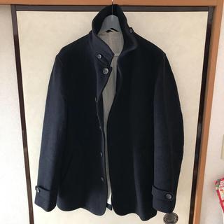 ムジルシリョウヒン(MUJI (無印良品))の無印良品 コート フレンチウール混メルトン ジャケット XL ネイビー(ピーコート)