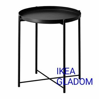 イケア(IKEA)のIKEA トレイテーブル サイドテーブルGLADOM ブラック(コーヒーテーブル/サイドテーブル)