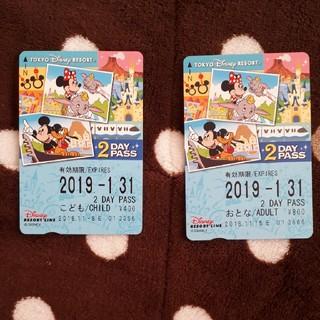 ディズニー(Disney)のディズニーリゾートライン 2daysパス(鉄道乗車券)