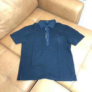 BURBERRY BLACK LABEL - Burberry BLACK label ポロシャツ 黒 サイズ3