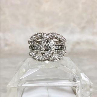 シャネル(CHANEL)の正規品 シャネル 指輪 エタニティ ココマーク ラインストーン 銀 リング 2(リング(指輪))