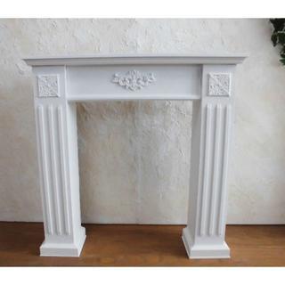 マントルピース飾り棚W80(送料込)ピュア ミルキー オフホワイト(家具)