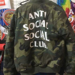 アンチ(ANTI)のアンチソーシャルソーシャルクラブカモ柄MA1ジャケット(ブルゾン)