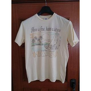 ジャンクフード(JUNK FOOD)のジャンクフード ロゴプリント半袖Tシャツ 丸首 黄色 イエロー USA製 M(Tシャツ/カットソー(半袖/袖なし))