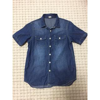 ジーユー(GU)のGU デニムシャツ半袖 150 美品!(Tシャツ/カットソー)