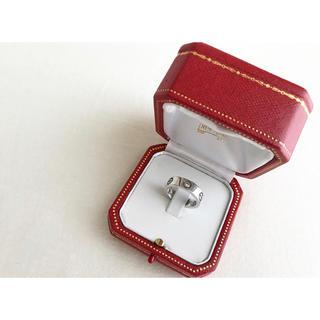 カルティエ(Cartier)のクラッシャー様専用☆直営店購入 Cartier ラブリング ハーフダイヤ WG(リング(指輪))