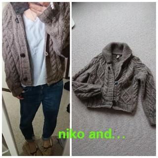 ニコアンド(niko and...)のniko and…*ケーブルニットカーディガン(ニットコート)
