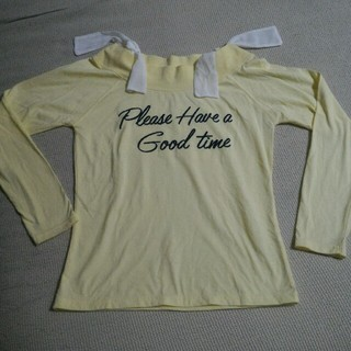 ピンクラテ(PINK-latte)のピンクラテ カットソー ロンT 長袖 黄色 PINK-latte(Tシャツ/カットソー)