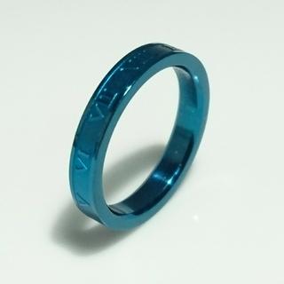 アウトレット 刻印無料 漢字ひらがな可能♪ローマナンバーブルー2個(リング(指輪))