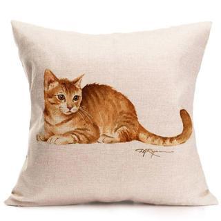 猫クッションカバー   新品未使用品 送料無料♪(004)(猫)