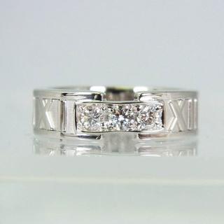 ティファニー(Tiffany & Co.)のティファニー 750WG アトラス ダイヤモンド リング 8号[f336-2] (リング(指輪))