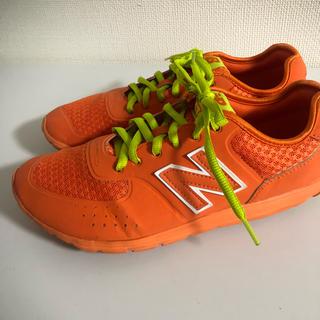 ニューバランス(New Balance)のnew balance オレンジ ランニングシューズ 24cm 574(スニーカー)
