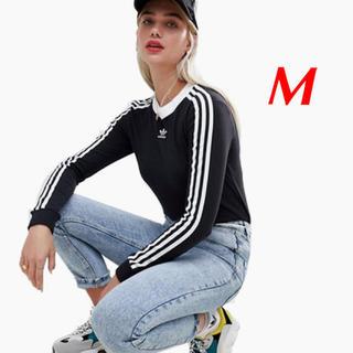 アディダス(adidas)の【レディースM】黒 ロングスリーブTシャツ  アディダスオリジナルス(Tシャツ(長袖/七分))
