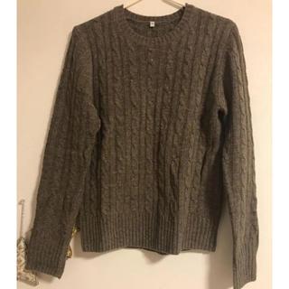 ムジルシリョウヒン(MUJI (無印良品))の無印良品 ケーブル編みセーター(ニット/セーター)