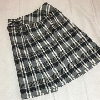 コムサイズム(COMME CA ISM)のコムサイズムの巻きスカート チェック(ひざ丈スカート)