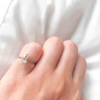 ロキエ(Lochie)の୨୧ Vintage silver metallic tulip ring(リング(指輪))