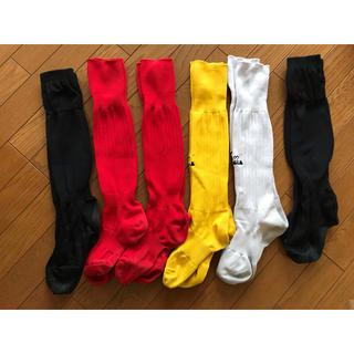 サッカーソックス靴下練習用6足セットキッズkids(下駄/草履)
