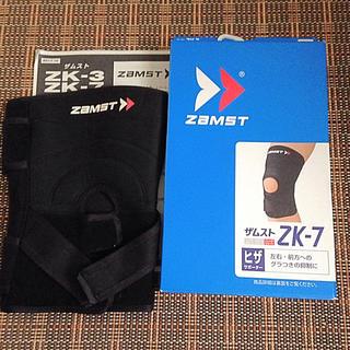 ザムスト(ZAMST)の新品同様品 ザムスト 膝サポーター ZK-7 4L(その他)