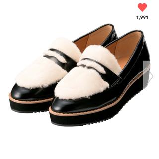 ジーユー(GU)のGU フェイクファープラットフォームローファー(ローファー/革靴)