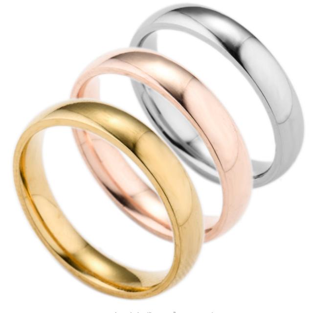 シンプルなファッションリング (ピンクゴールド) レディースのアクセサリー(リング(指輪))の商品写真