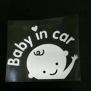 Baby in car 赤ちゃん乗ってます ステッカー(自動車用チャイルドシートカバー)
