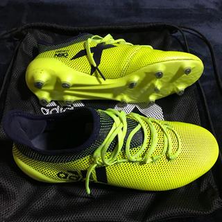 アディダス(adidas)のアディダス エックス 17.1 FG/AG 26.5cm 蛍光イエロー (シューズ)