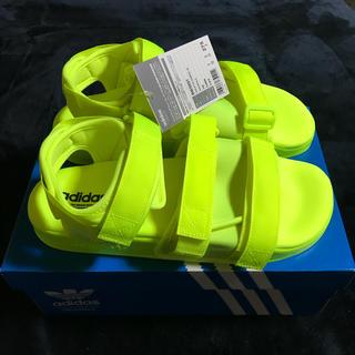 アディダス(adidas)の新品 アディダス オリジナルス サンダル イエロー 27.5cm(サンダル)
