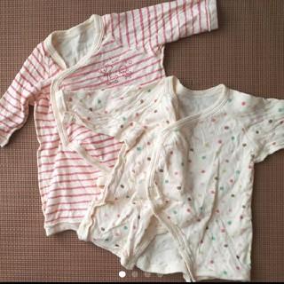 ニシマツヤ(西松屋)の長袖コンビ肌着2枚セット ~60サイズ(肌着/下着)