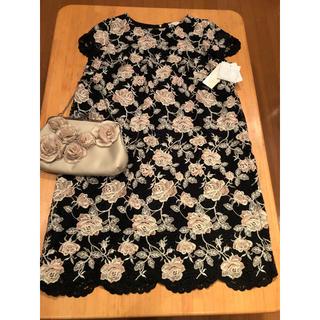 ローズティアラ(Rose Tiara)のローズティアラ新品・未使用 大きいサイズ 上質で上品な素敵なドレス〜12/3まで(ひざ丈ワンピース)