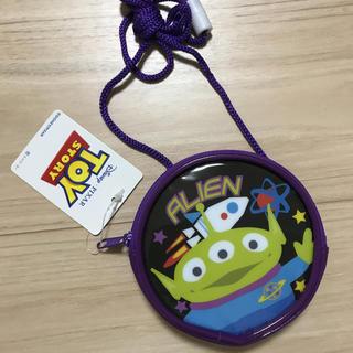 ディズニー(Disney)のディズニー エイリアン 丸型ネックパース 新品未使用(財布)