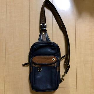 ハーヴェストレーベル(HARVEST LABEL)のムスタッシュ ボディバッグ 紺 青 *メッセンジャーバッグ バッグ 鞄 かばん(メッセンジャーバッグ)