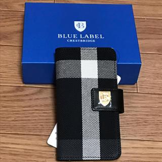 バーバリーブルーレーベル(BURBERRY BLUE LABEL)の【新品未使用】ブルーレーベル クレストブリッジ 手帳型iPhoneケース(iPhoneケース)