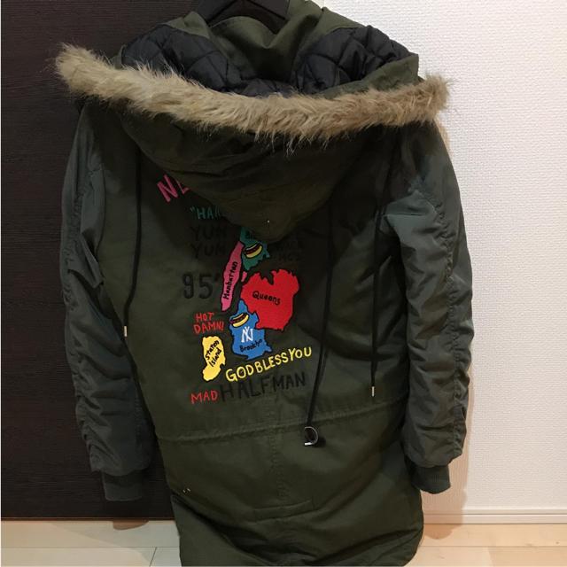 HALFMAN(ハーフマン)の格安 美品 halfman モッズコート ma-1 カーキ メンズのジャケット/アウター(モッズコート)の商品写真