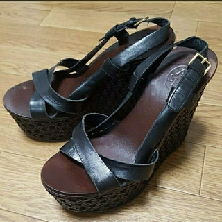 アッシュ(ASH)の ASH カゴ編み風 サンダル レディース ヒール ウェッジソール 靴 シューズ(サンダル)