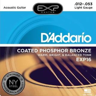 D'Addario/アコースティック弦/EXP16/コーティング フォスファー(弦)
