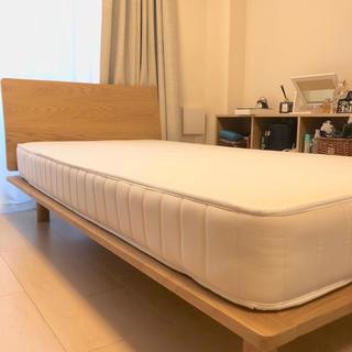 ムジルシリョウヒン(MUJI (無印良品))の無印良品*ベッドフレーム+マットレス  シングル(シングルベッド)