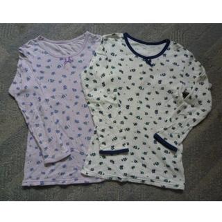 シマムラ(しまむら)のしまむら 女児厚手シャツ花柄長袖130 2枚(下着)